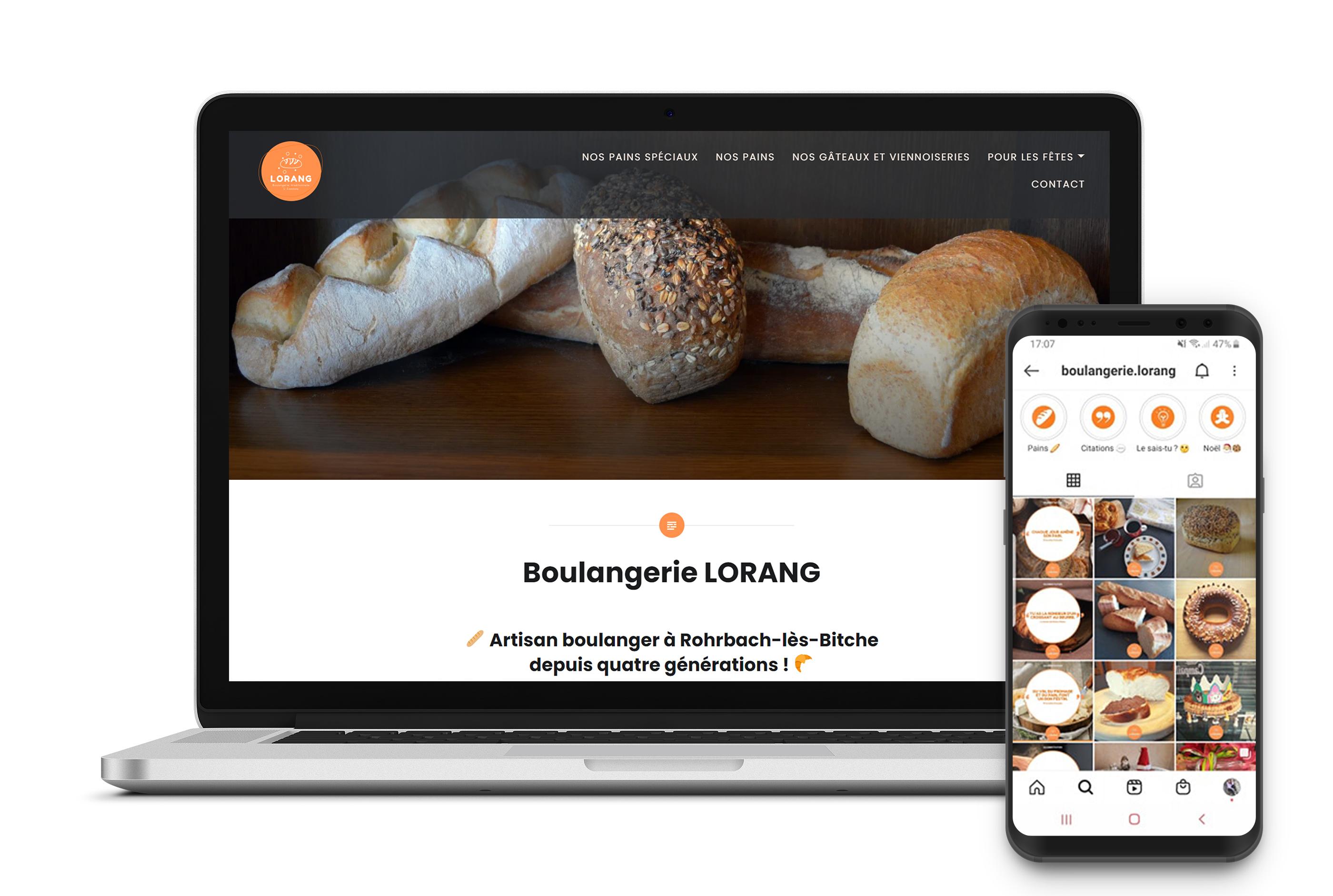 Site et reseaux sociaux - Boulangerie Lorang - ML Communication